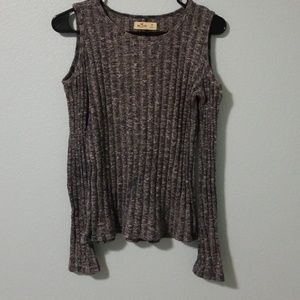 Hollister cold shoulders sweater